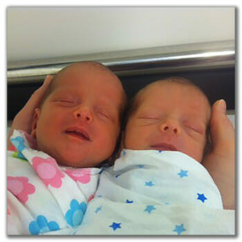 Newborn Twins Getting Pregnant with Low AMH and High FSH