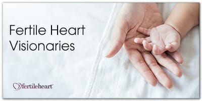 Baby's Hand in Mom's Hand Fertile Heart Visionaries