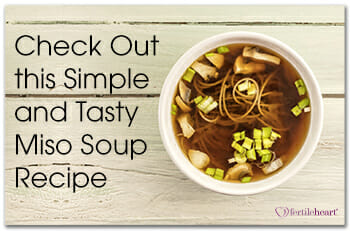 Check Out this Miso Soup Recipe - White Bowl of Miso Soup on Wood Background