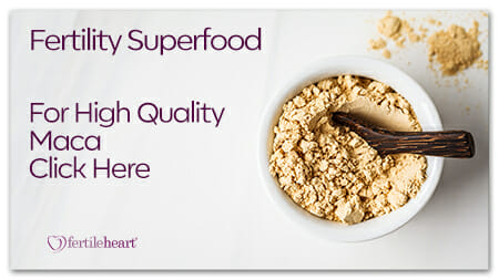 Maca Powder in White Bowl Fertility Superfood