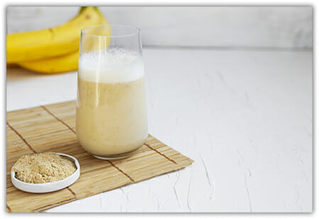 Maca Banana Smoothie in Glass