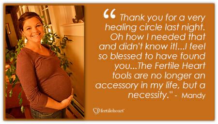 Mandy Pregnant Thank you for a very healing Fertile Heart circle