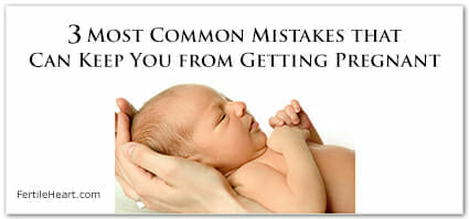 Newborn Baby Cradled in Hands - 3 Most Common Mistakes to Keep From Getting Pregnant