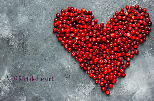 Cranberry Heart - A Fertility Super Food