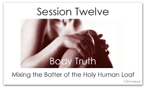 Woman's hands on Knees Meeting Your Child Halfway Video Series Session 12 Body Truth