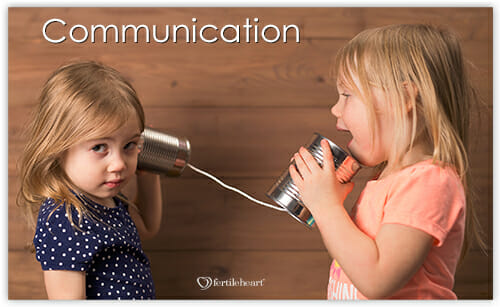 2 girls talking with tin cans and string; communication