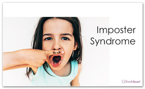 Child with painted mustache, imposter syndrome