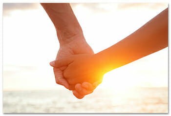 Fertile Heart - Holding Hands in Sunset - Getting Unstuck and Fertile Again