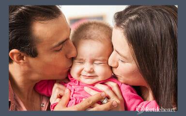 Couple Kissing Little Baby Fertile Heart