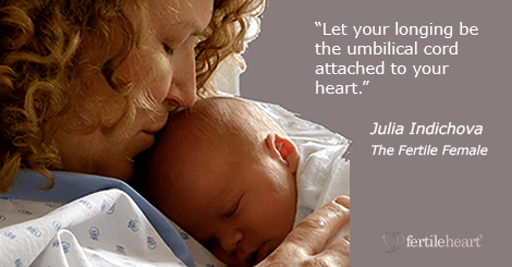Infertility inspiration quote from The Fertile FEmale
