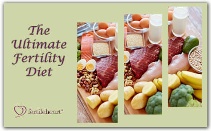 Various Foods on Cutting Board - The Ultimate Fertility Diet