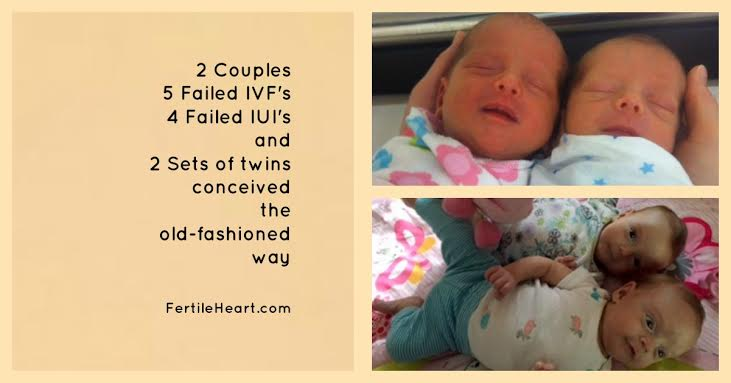Fertile Heart twins; natural conception after failed IVF